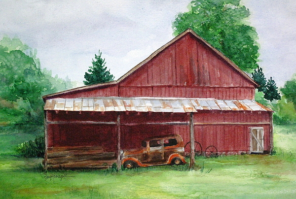 Barns Painting - Tennessee Barn by Suzanne Krueger