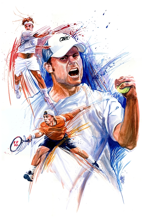 Tennis Players Painting - Tennis Snapshot by Ken Meyer