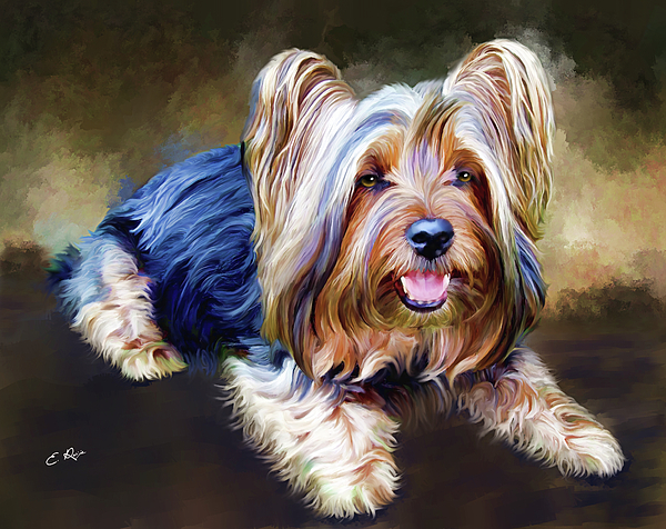 Dog Painting - Terrier by Ellens Art