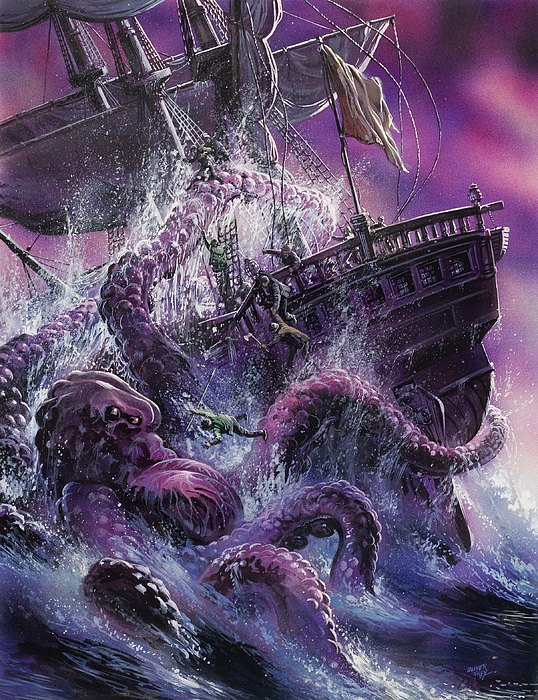 Sea Painting - Terror From The Deep by Oliver Frey