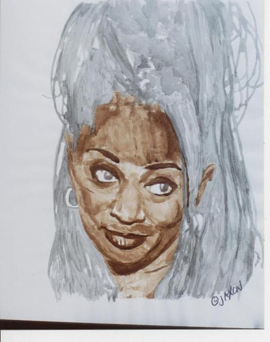 Author Painting - Terry Mcmillan by B Jaxon