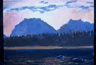 Wy Painting - Teton Sunset by Bryan Alexander