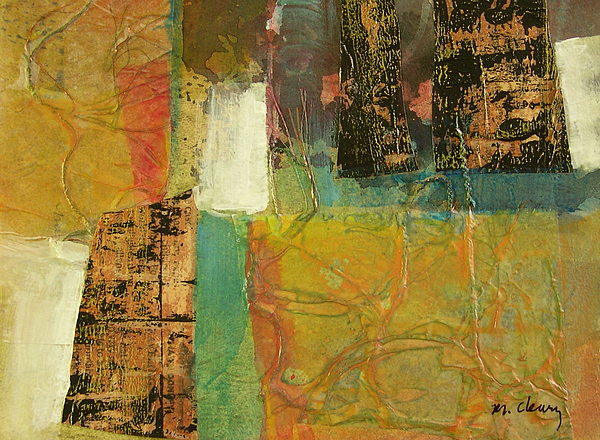 Collage Painting - Textural Notions by Melody Cleary