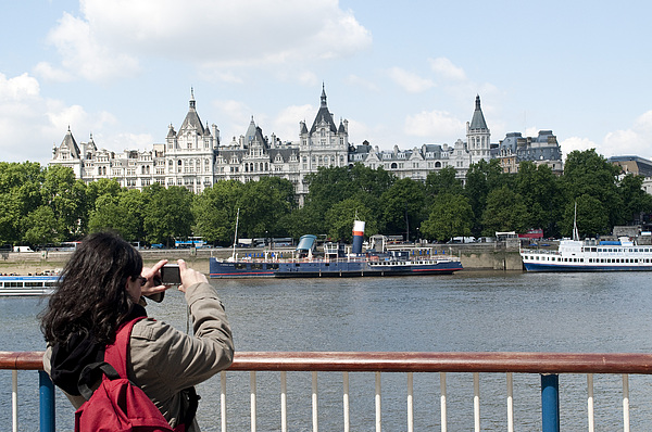 Southbank Photograph - Thames River 0109 by Charles  Ridgway