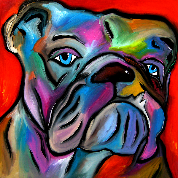 That's Bull - Abstract Dog Pop Art By Fidostudio Painting by Tom ...