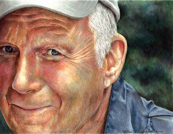 Father Drawing - Thats My Dad by Melissa J Szymanski
