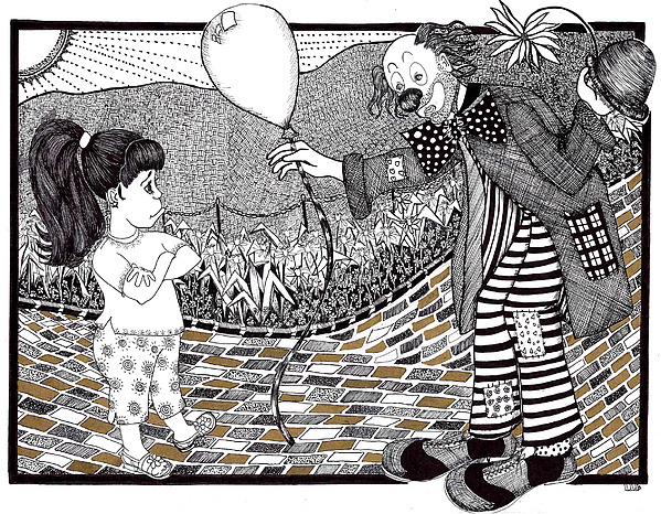 Lenora Drawing - Thats Not A Hot Air Balloon by Lenora Brown