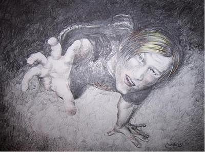 Portrait Drawing - The 3-dimensional Pencil by Clare Harvey