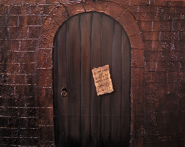 The 95 Theses Painting by Edwin Alverio
