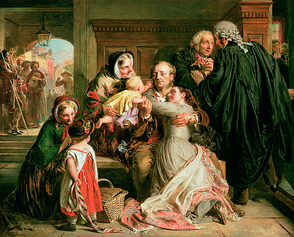 The Painting - The Acquittal by Abraham Solomon