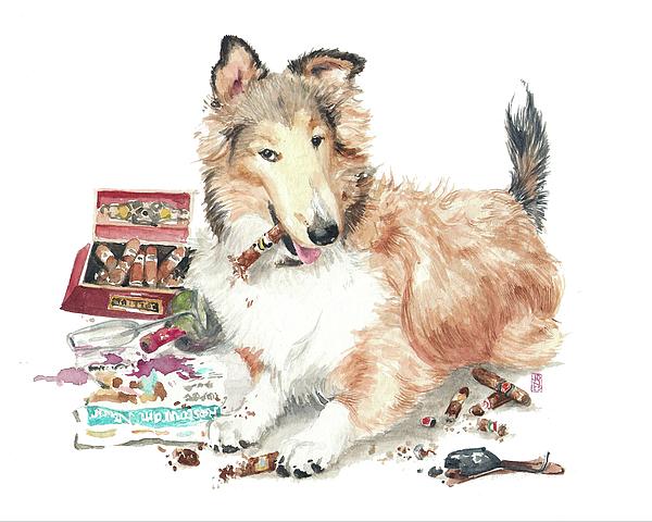 Cigar Lover Painting - The Aficiondo by Debra Jones