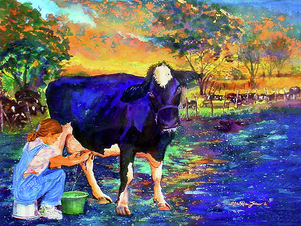 Watercolor Painting - The Agronomist by Estela Robles