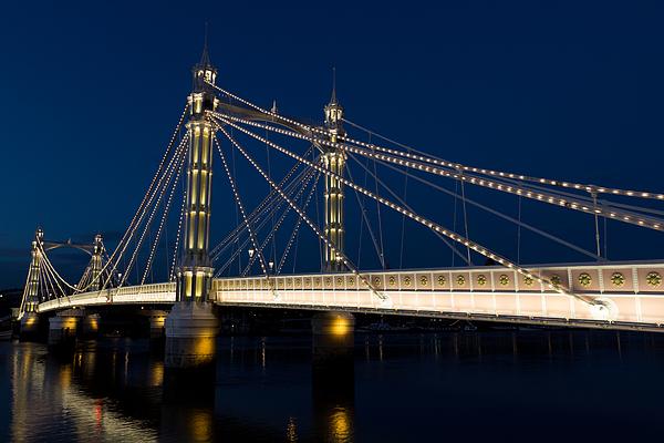 Albert Bridge Photograph - The Albert Bridge London by David Pyatt