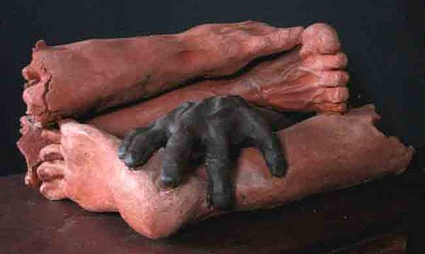 Hands And Feet Sculpture - The Americas by Andre Ferron