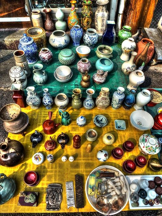 Antique Photograph - The Antique Market by Michael Garyet