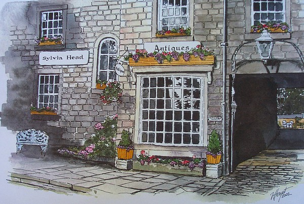 Yorkshire Painting - The Antique Shop by Victoria Heryet