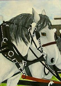 Draft Horse Painting - The Apple Horse     by Carol Kullberg