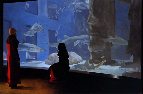 Figure Painting - The Aquarium by Toby Boothman