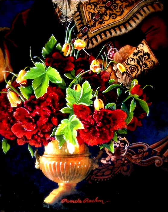 Old World Painting - The Arrangement by Pamela Roehm