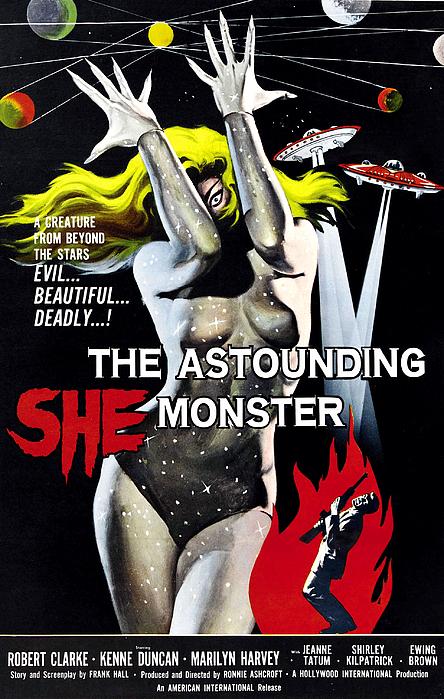 1957 Movies Photograph - The Astounding She-monster, 1-sheet by Everett