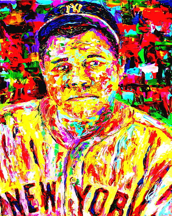 The Babe Painting - The Babe by Mike OBrien