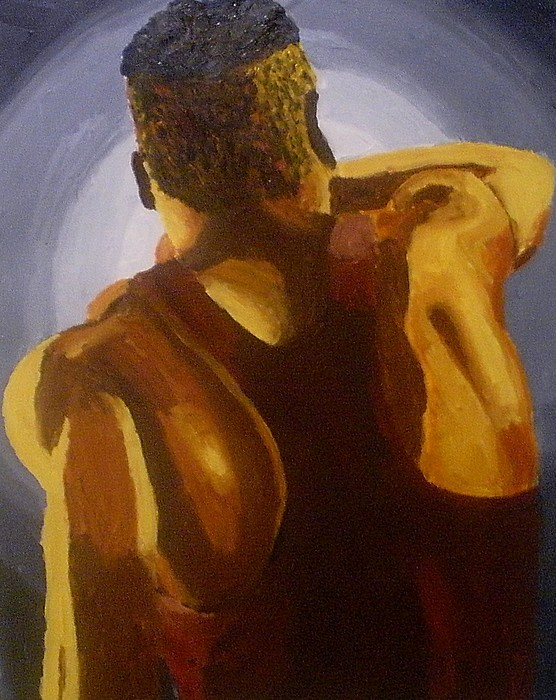 Male Painting - The Back Side by Mats Eriksson