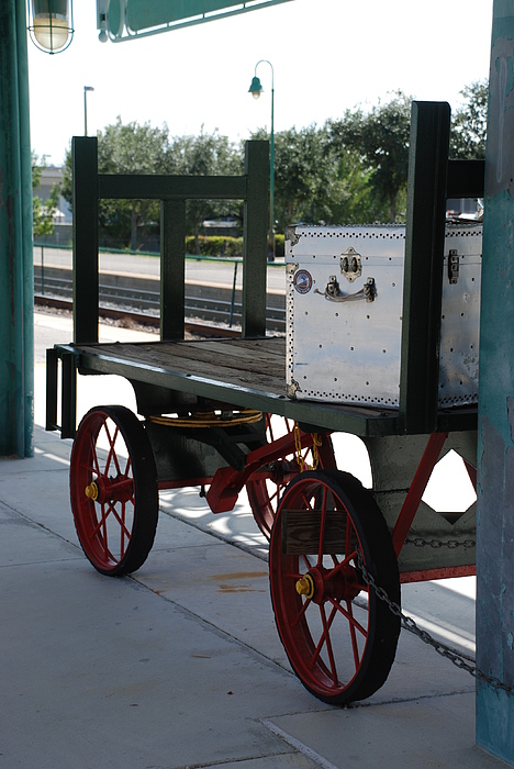 Train Station Photograph - The Baggage Cart And Truck by Rob Hans