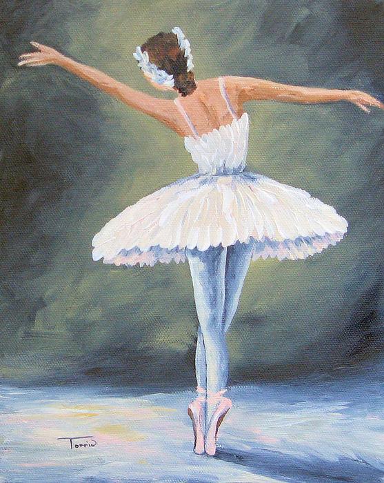 the ballerina iii painting by torrie smiley