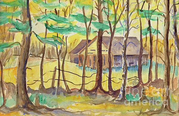 Landscape Painting - The Barn by Art MacKay