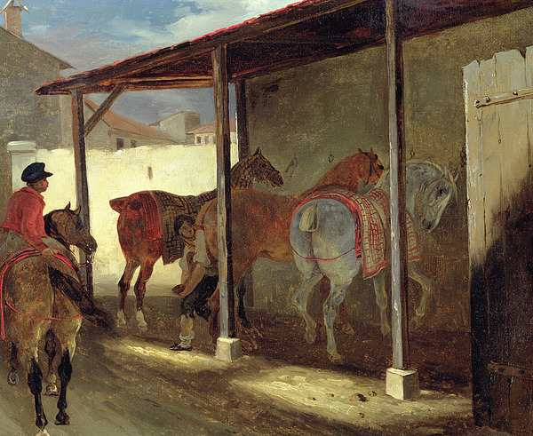 The Painting - The Barn Of Marechal-ferrant by Theodore Gericault