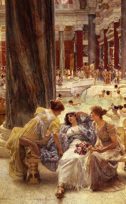Baths Painting - The Baths Of Caracalla by Sir Lawrence Alma-Tadema
