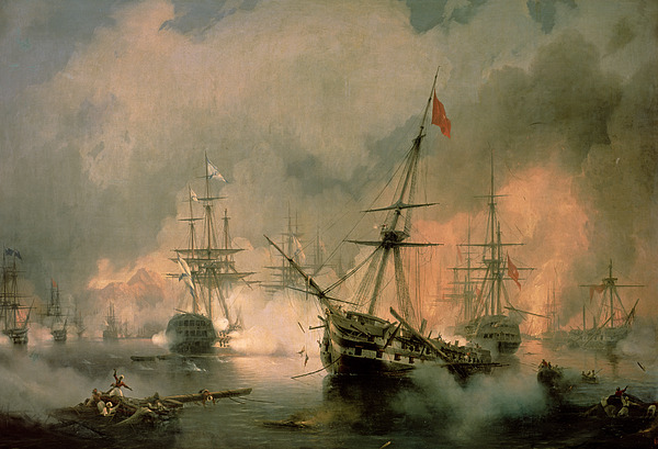 The Painting - The Battle Of Navarino by Ivan Konstantinovich Aivazovsky