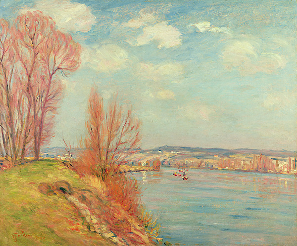 The Painting - The Bay And The River by Jean Baptiste Armand Guillaumin