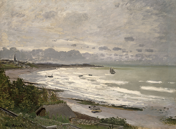 The Beach At Sainte Adresse Painting - The Beach At Sainte Adresse by Claude Monet