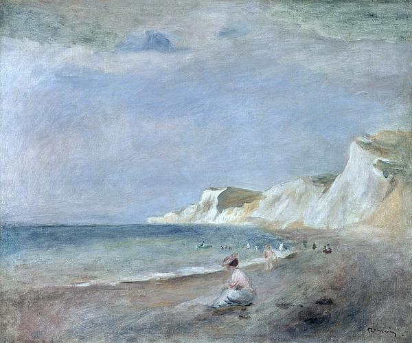 The Beach At Varangeville Painting By Renoir