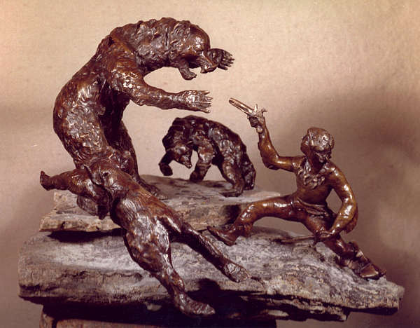 Western Sculpture - The Bear Trap by Willoughby Senior