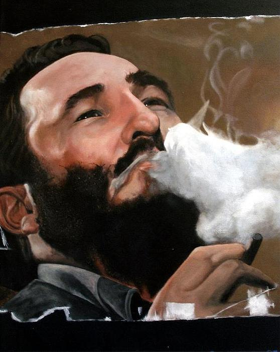 Portrait Painting - The Beard by David Perales