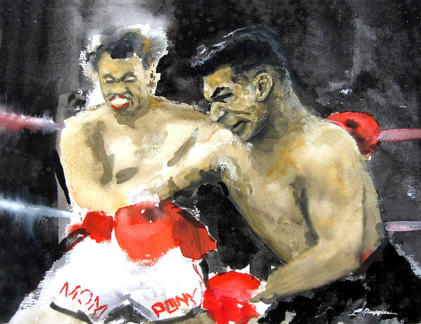 Boxers Painting - The Beast In The Ring by Leonardo Ruggieri