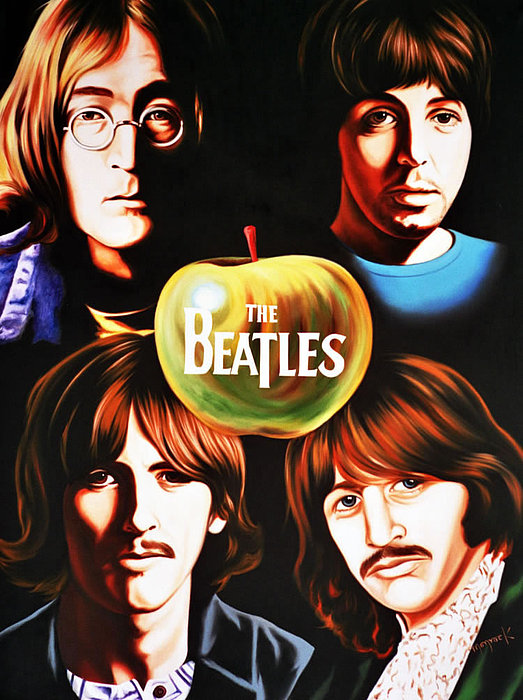 Rock Stars Legends Painting - The Beatles by Hector Monroy