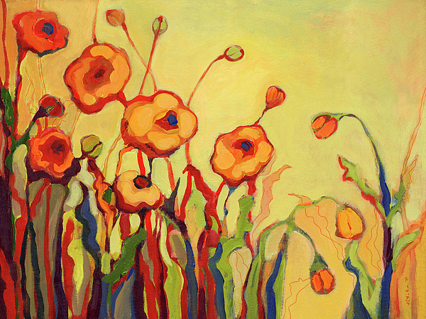 Floral Painting - The Beckoning by Jennifer Lommers