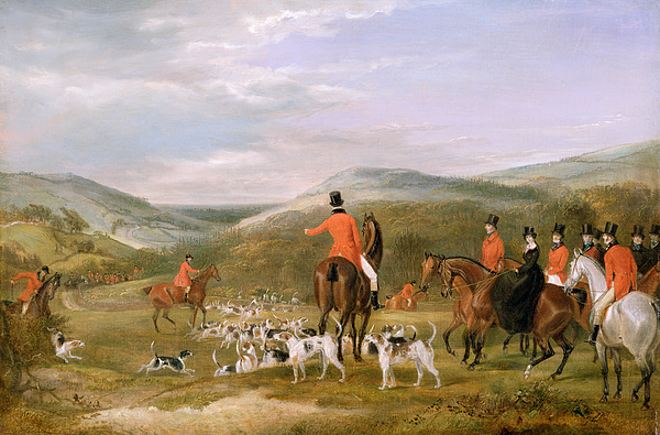 The Painting - The Berkeley Hunt by Francis Calcraft Turner
