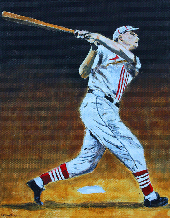 Baseball Painting - The Big Cat by Ralph LeCompte