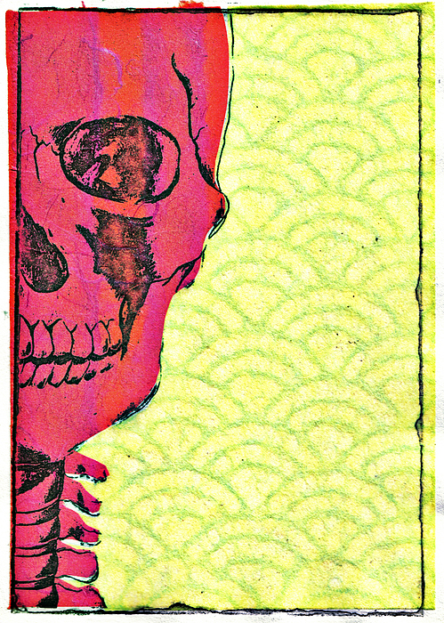 Skull Mixed Media - The Big Top-reverse by Kimberly Lavon
