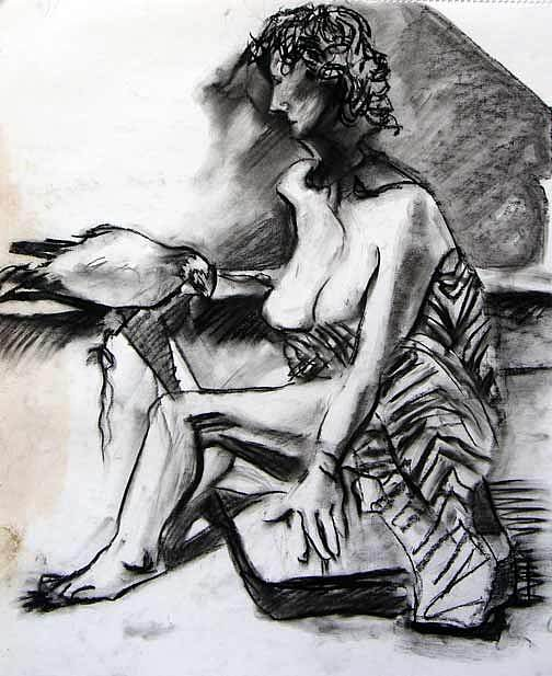 Drawing Drawing - The Bird by Brad Wilson