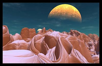 Alien Digital Art - The Bizarre Canyons Of Azira by Graham Conrad