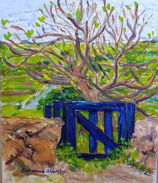 Landscape Painting - The Blue Gate At Gharghur - Malta by Doranne Alden