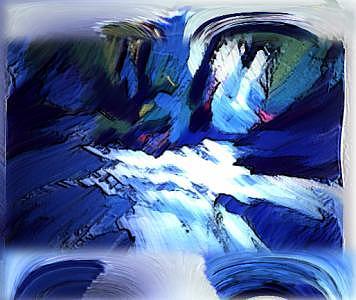Blue Digital Art - The Blue Sky by Aline Pottier  Gama Duarte