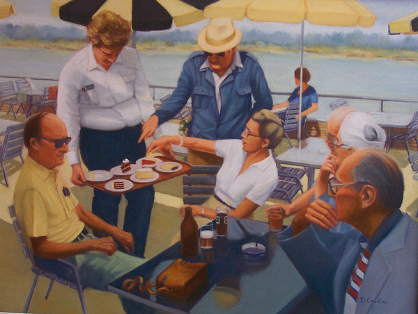 Rhine River Cruise Painting - The Boat Party by Diane Caudle