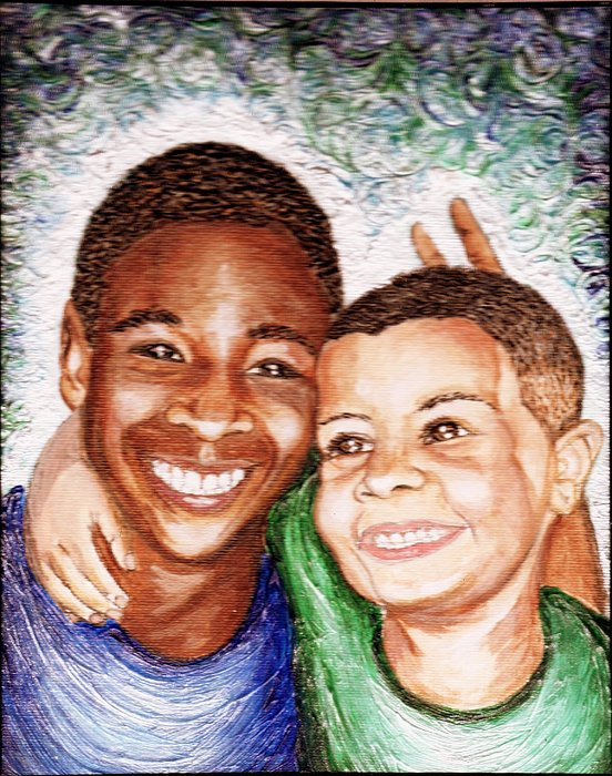 Boys Painting - The Boys  by Keenya  Woods