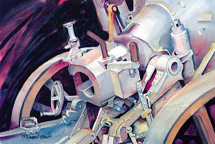 Machinery Painting - The Breech by Richard Staat